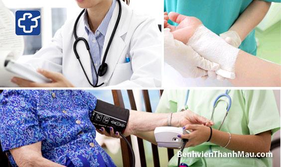thay băng cắt chỉ tại nhà bác sĩ khám bệnh bệnh viện thánh mẫu