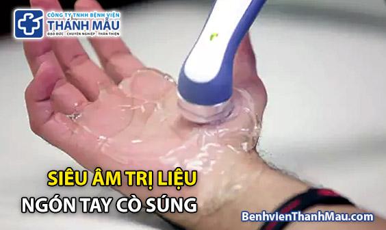 vat ly tri lieu ngon tay co sung sieu am tri lieu ngon tay co sung
