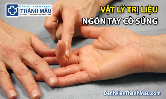 vat ly tri lieu ngon tay co sung van dong tri lieu ngon tay co sung