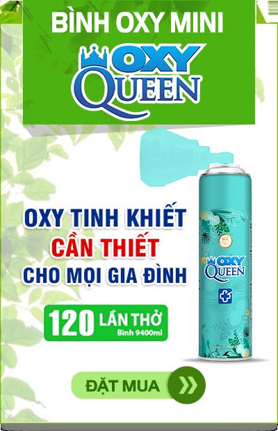 Đặt mua bình oxy mini OXY QUEEN